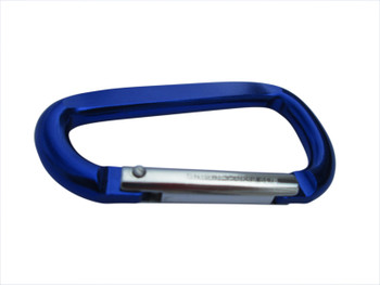 Carabiner - Blue - Email us what you want on the Front and Back sides