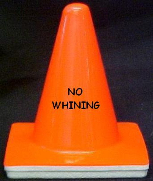 """Novelty 4"""" Blaze Cone #007  No Whining"""