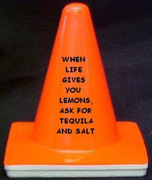 "Novelty 4"" Blaze Cone #065  When Life gives you Lemons......"