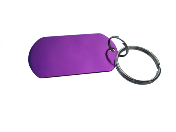 Dog Tag - Purple  Email us what you want on the Front and Back sides