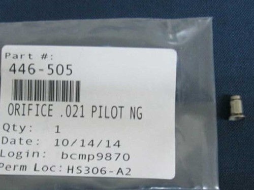 Heat N Glo Pilot Orifice - .021 - NG (SRV446-505)