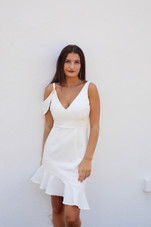 Last White Rose Dress