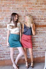 Roselle Skirt - Deep Ruby
