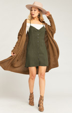Remington Dress - Army Green Tencel