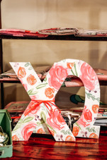 Floral Sorority Letters