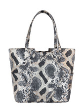 Paint the Town Tote in Black Gold Python