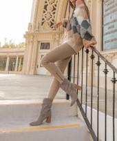 Mavis Western Style Suede Boots