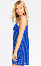 Callahan Slip Dress - Cobalt Beading