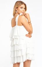 Rowen Ruffle Dress - White