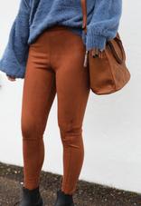 Scuba Legging Pants - Cinnamon