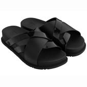 Black Genex Criss-Cross Slides