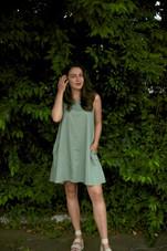 Dylan Sleeveless A-Line Pocket Dress