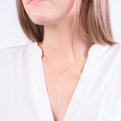 Sorority Lariat Charm Necklace