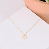 Sorority Hexagon Charm Necklace