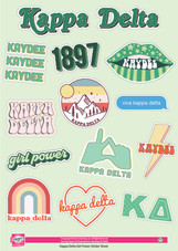 Girl Power Sorority Sticker Sheet