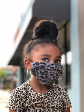 Kids Charcoal Leo Mask