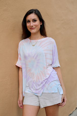 Cotton Candy Swirl Tie Dye Top