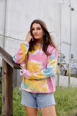 Pink Sage Tie Dye Sweatshirt