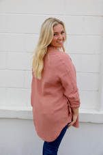 Forever Lovely The Best Oversized Button Up Shirt with Pockets