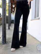AG Super Black Quinne High-Rise Flare jeans at L.A. Green.