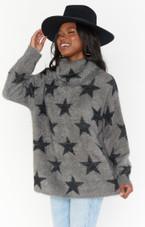 Fatima Turtleneck Sweater Smokey Star Knit