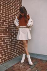 Faux Leather Swing Mini Skirt