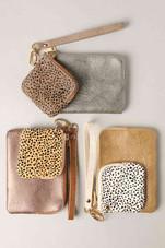 Leather Double Key Wallet / Wristlet
