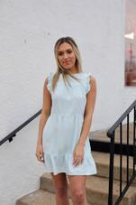 Bella Ruffle Sleeve Tiered Ann Dress