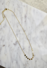Disc Chain Layering Necklace
