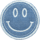 Stoney Clover Puffy Blue Jean Icon Patches