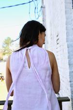 Tie Back Mock Neck Dress