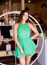 Hailey Halter Romper Dress