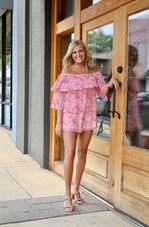Lizzie Pink 3 Tier Romper