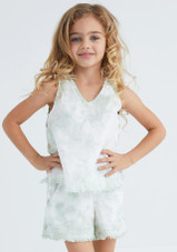 Tween Side Button Fray Tunic