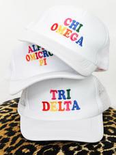 Colorful Sorority Trucker Hat
