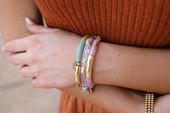 Caramel Swirl Acrylic Tube Bracelet