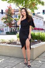 Charlotte One Shoulder Wrap Dress