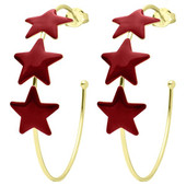 Maroon Star Hoops