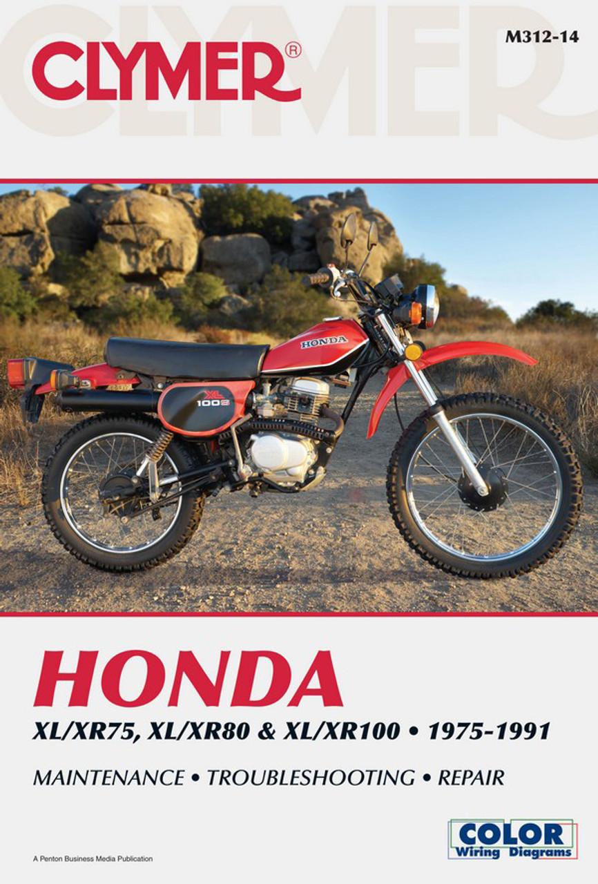 clymer manual m312: honda xr80, xr80r, xl100s, xr100 and xr100r (1975