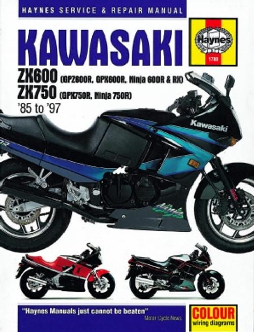 [SODI_2457]   Kawasaki ZX600 & 750 Ninjas (85-97) Haynes Manual   Manual   Haynes-  Performance Cycle of Colorado   Honda 750r Wiring Diagram      Performance Cycle of Colorado