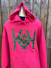 Specialty Hoodies with Glitter Colored Logos