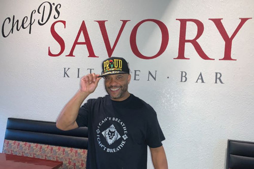 I Can't Breathe T-Shirts Endorsed by Owner Chef D's Savory Kitchen Bar