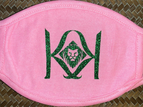 Pink Mask with Green K Logo