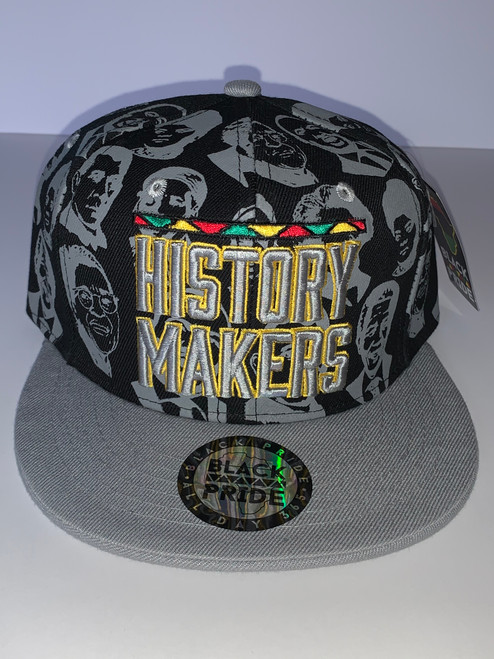 Black Grey Trim White and Yellow (Snapback Hat)
