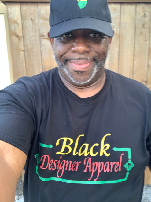 Black Designer Apparel Designer Tee Shirt 100% Cotton