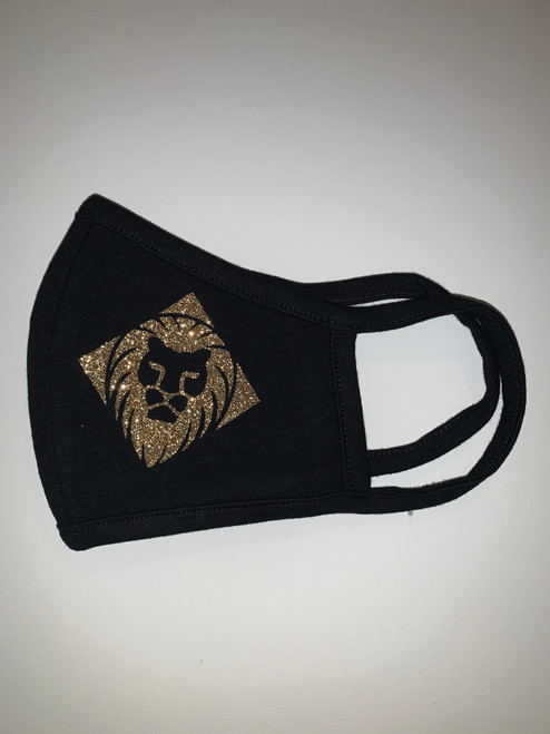 Black Mask with Gold Logo