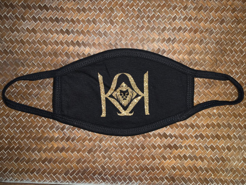 Black Mask with Gold K  Logo