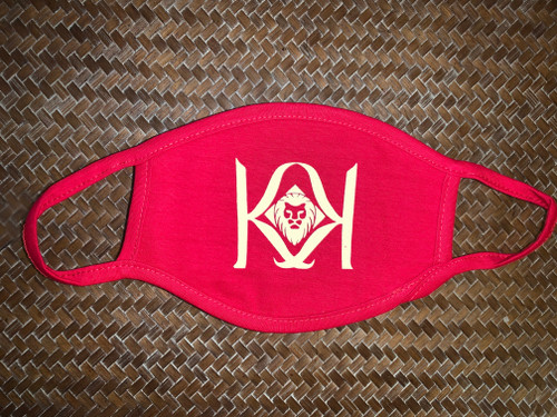 Red Mask with White K Logo