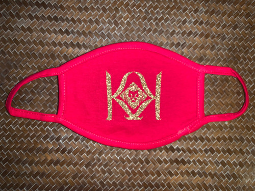 Red Mask with Gold K Logo