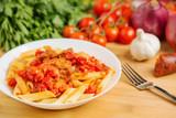 Pasta with Spanish Chorizo & Tomato Sauce